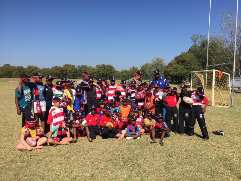 Rugby kit donation to the Maun Puppies